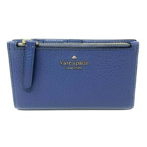 Kate Spade Jackson Small Slim Bifold Wallet Blue